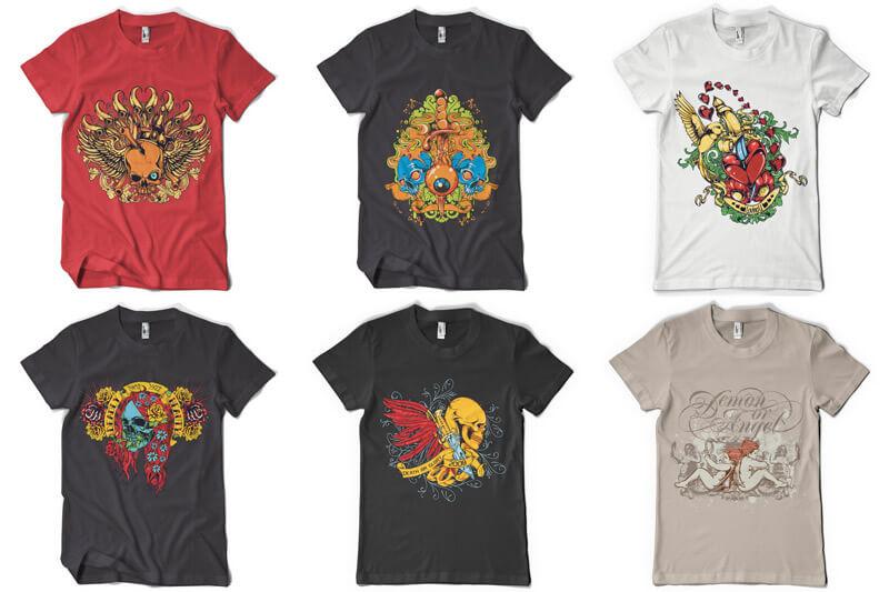 100 T shirt Designs Vol 3 Preview 03