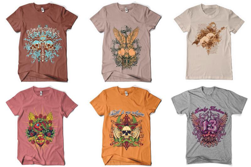 100 T shirt Designs Vol 3 Preview 04