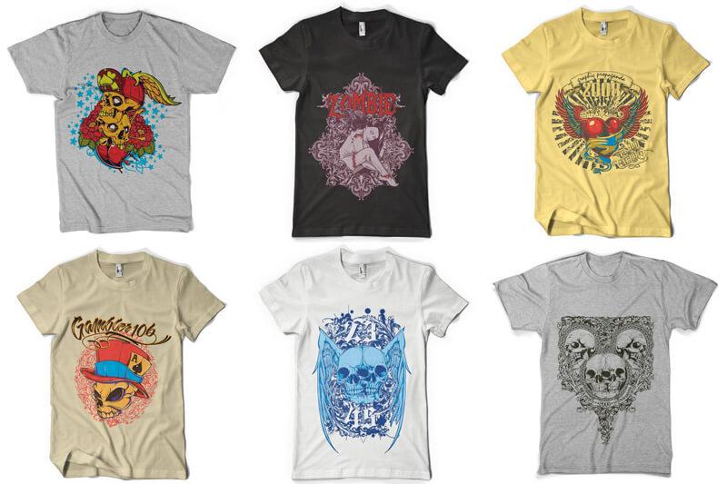 100 T shirt Designs Vol 3 Preview 05