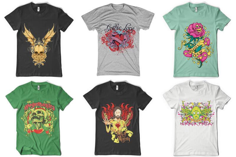 100 T shirt Designs Vol 3 Preview 06