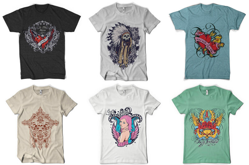 100 T shirt Designs Vol 3 Preview 07