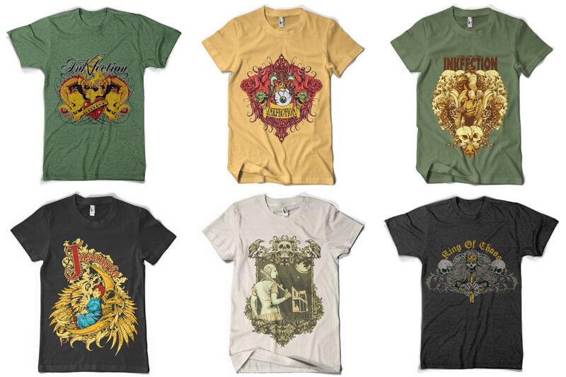 100 T shirt Designs Vol 3 Preview 08