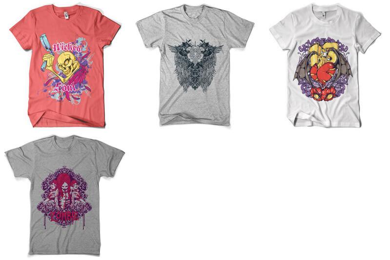 100 T shirt Designs Vol 3 Preview 17