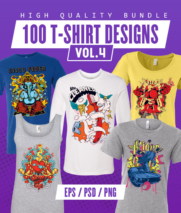 100 T-shirt Designs Vol 4 Cover
