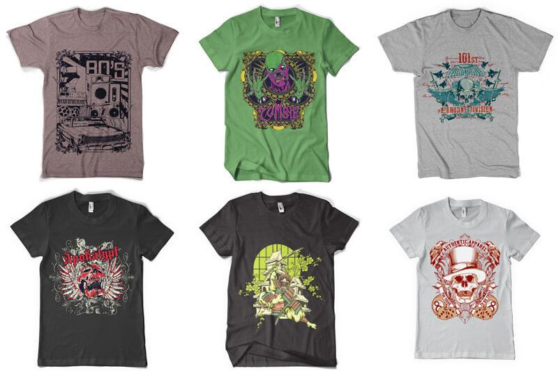 100 T shirt Designs Vol 4 Preview 01