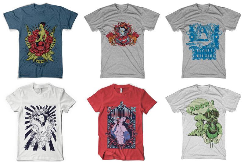100 T shirt Designs Vol 4 Preview 02