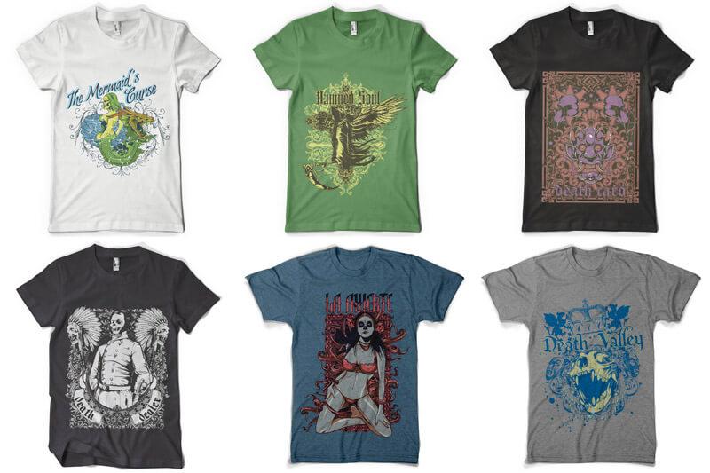 100 T shirt Designs Vol 4 Preview 04