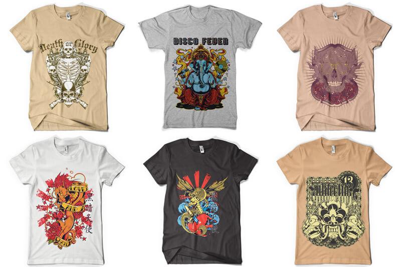 100 T shirt Designs Vol 4 Preview 05