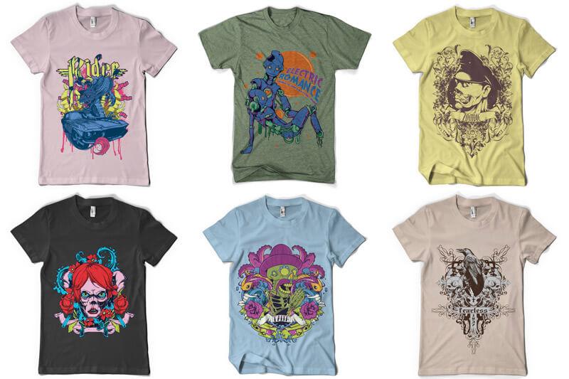 100 T shirt Designs Vol 4 Preview 06
