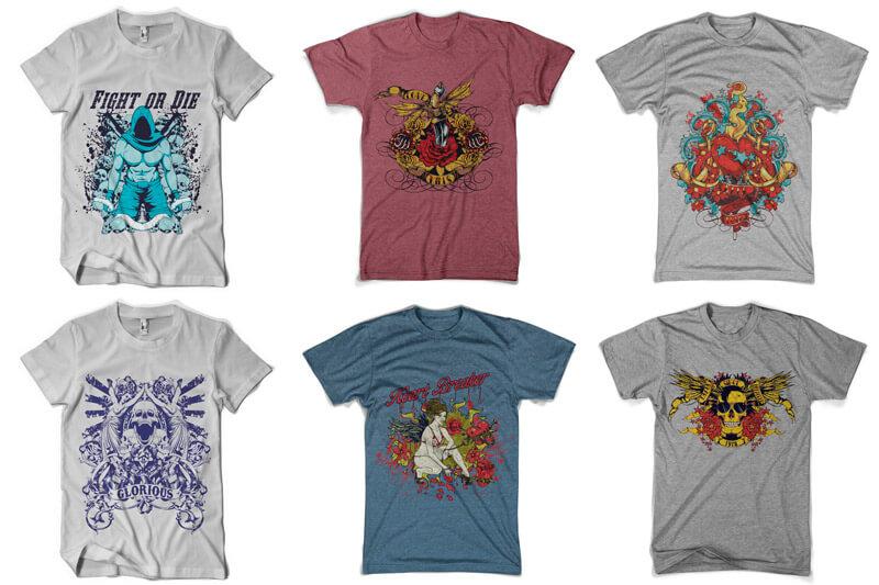100 T shirt Designs Vol 4 Preview 07