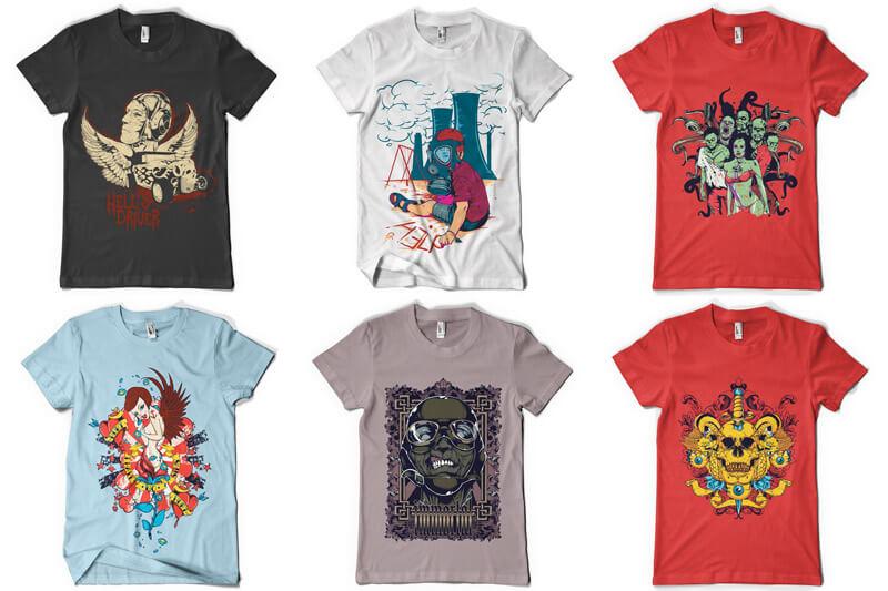 100 T shirt Designs Vol 4 Preview 08