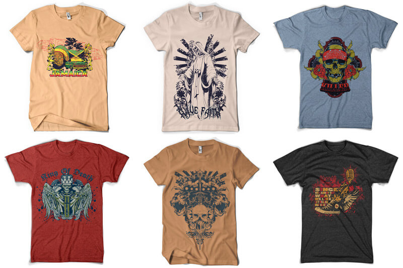 100 T shirt Designs Vol 4 Preview 09