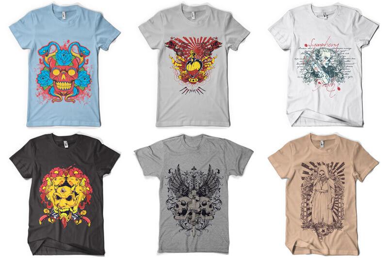 100 T shirt Designs Vol 4 Preview 15
