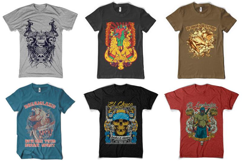 100 T-shirt Designs Vol 5 Preview 04