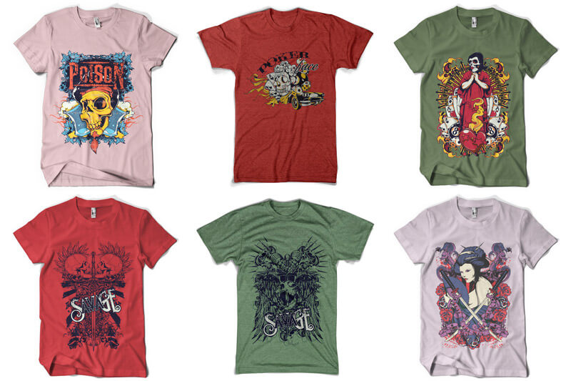 100 T-shirt Designs Vol 5 Preview 12