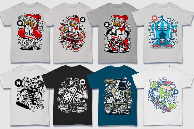 152-Tshirt-Designs-Cartoon-Bundle-Part-4-Preview-09