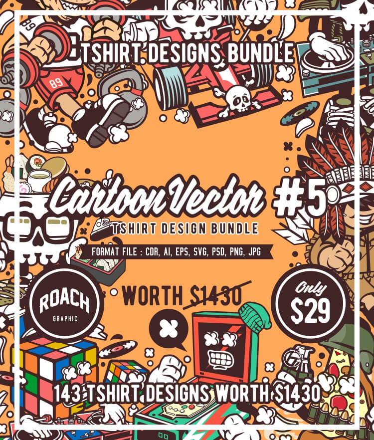 Cartoon Vector Part 5 T-shirt Designs Cover