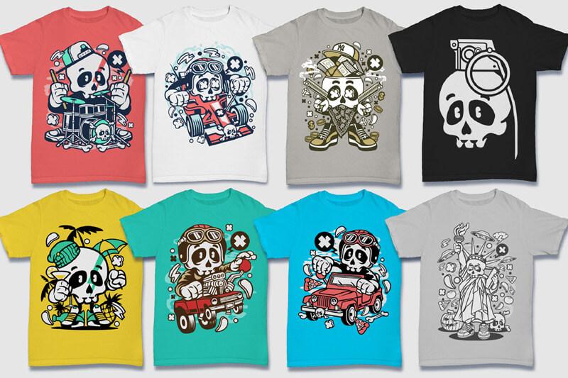 Cartoon Vector Part 5 T-shirt Designs Preview 06