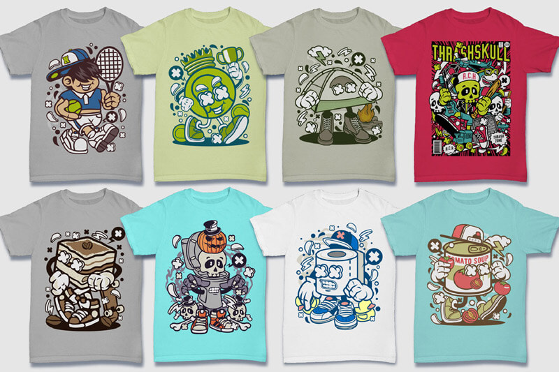 Cartoon Vector Part 5 T-shirt Designs Preview 07