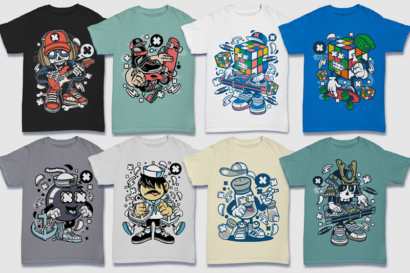 Cartoon Vector Part 5 T-shirt Designs Preview 08