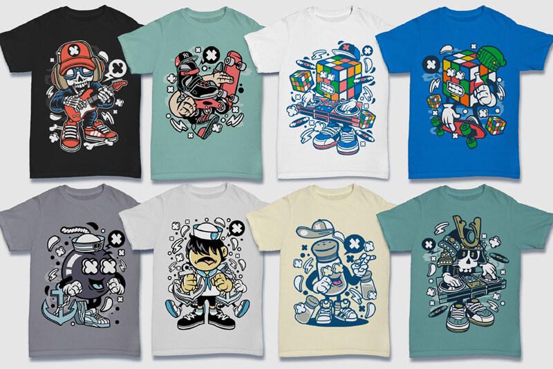 Cartoon Vector Part 5 T-shirt Designs Preview 08