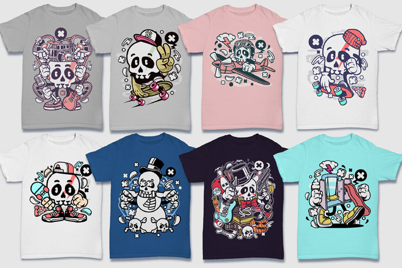 Cartoon Vector Part 5 T-shirt Designs Preview 09