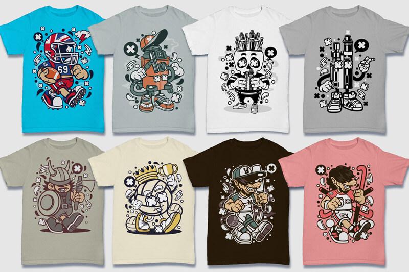 Cartoon Vector Part 5 T-shirt Designs Preview 10