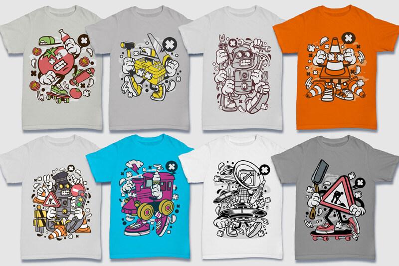 Cartoon Vector Part 5 T-shirt Designs Preview 11