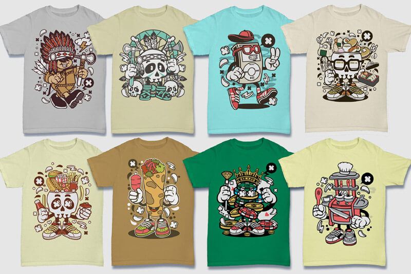 Cartoon Vector Part 5 T-shirt Designs Preview 12