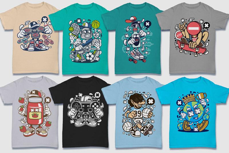 Cartoon Vector Part 5 T-shirt Designs Preview 13