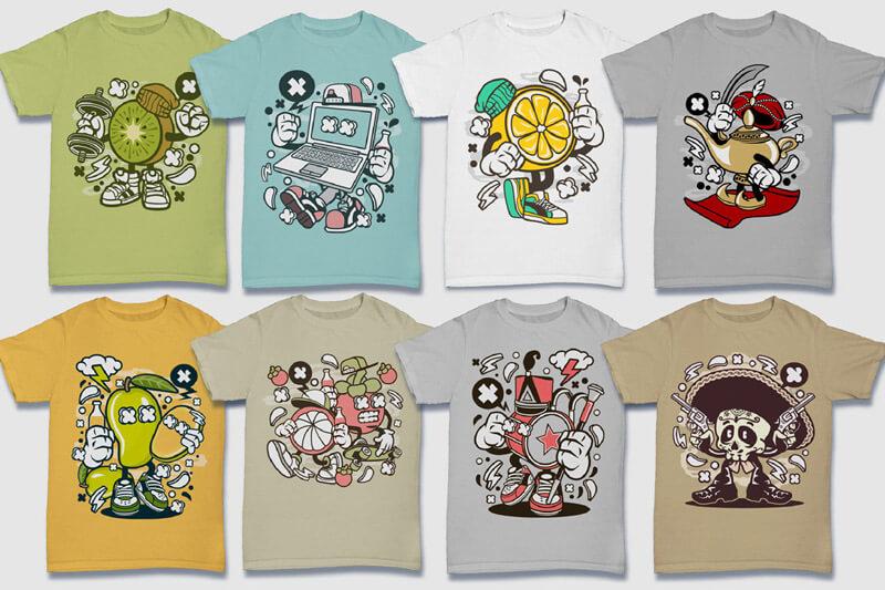 Cartoon Vector Part 5 T-shirt Designs Preview 14