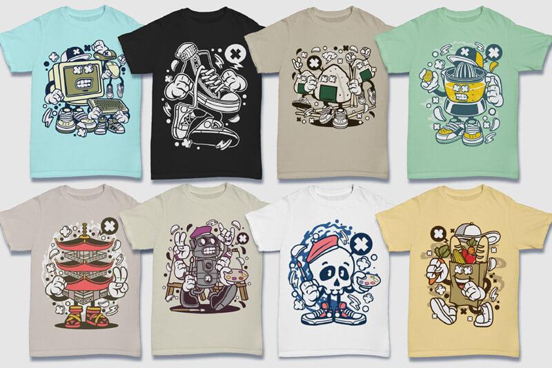 Cartoon Vector Part 5 T-shirt Designs Preview 15