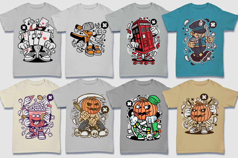 Cartoon Vector Part 5 T-shirt Designs Preview 16