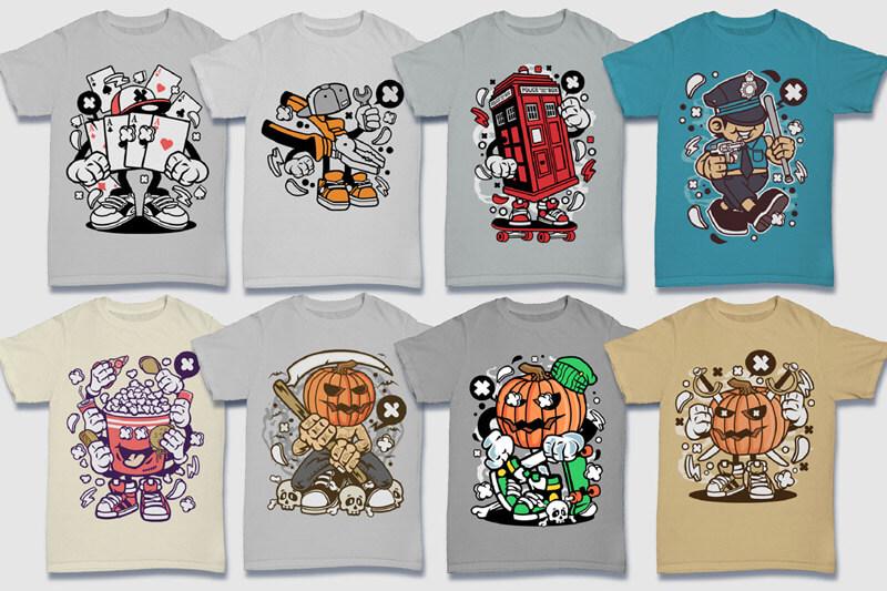 Cartoon Vector Part 5 T-shirt Designs Preview 16