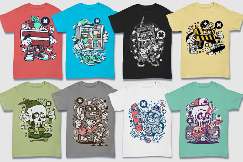 Cartoon Vector Part 5 T-shirt Designs Preview 17