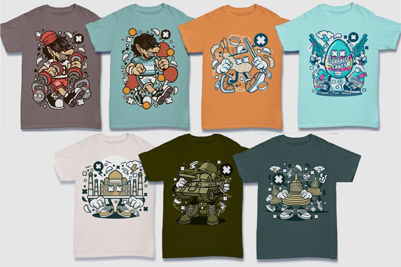 Cartoon Vector Part 5 T-shirt Designs Preview 18