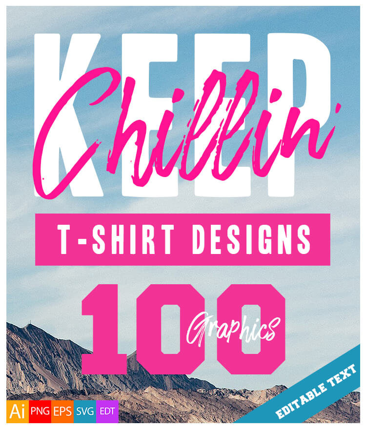 100 Keep Chillin Designs Cover