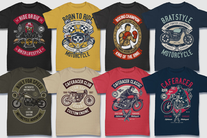 100 Retro T shirt Designs Preview 02