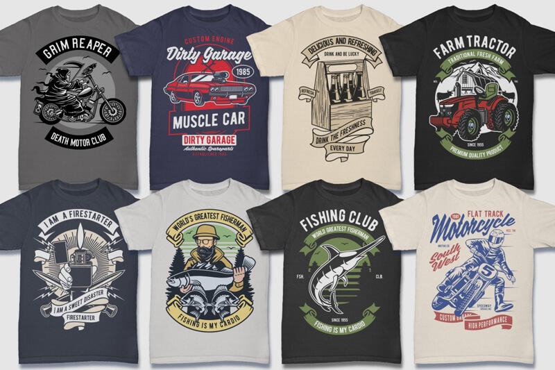100 Retro T shirt Designs Preview 04