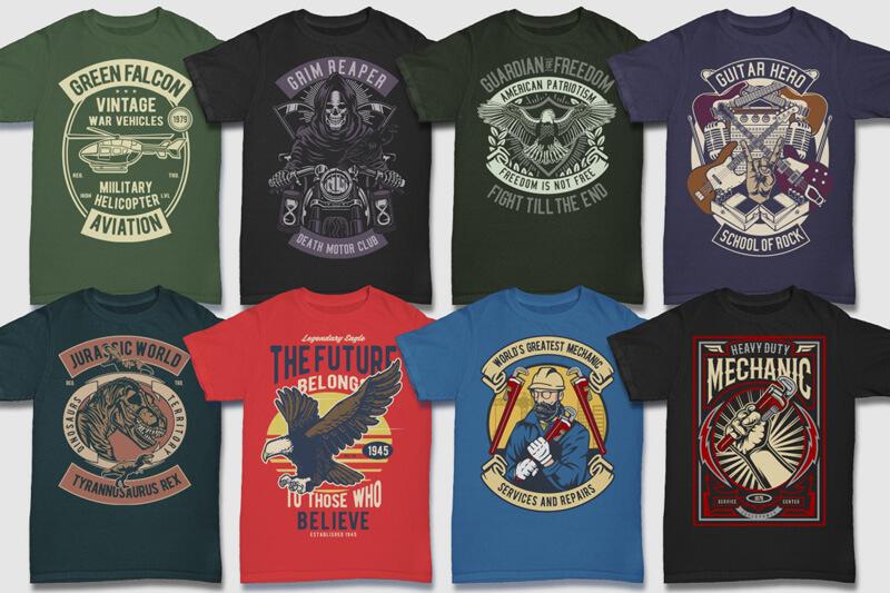 100 Retro T shirt Designs Preview 06
