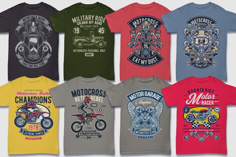 100 Retro T shirt Designs Preview 07