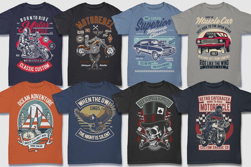 100 Retro T shirt Designs Preview 08