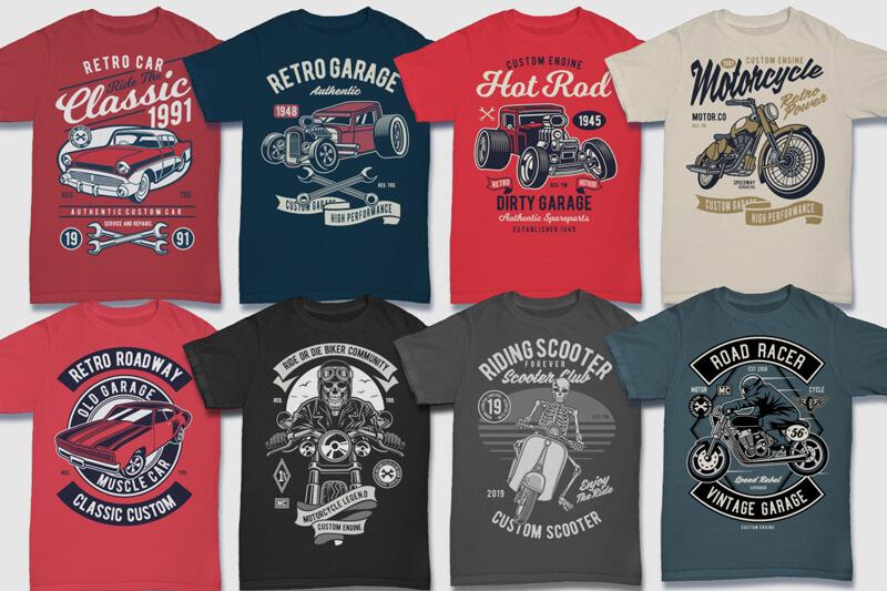 100 Retro T shirt Designs Preview 09