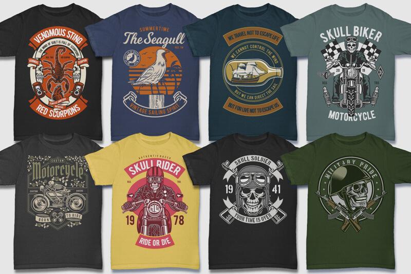 100 Retro T shirt Designs Preview 10