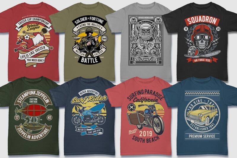 100 Retro T shirt Designs Preview 11