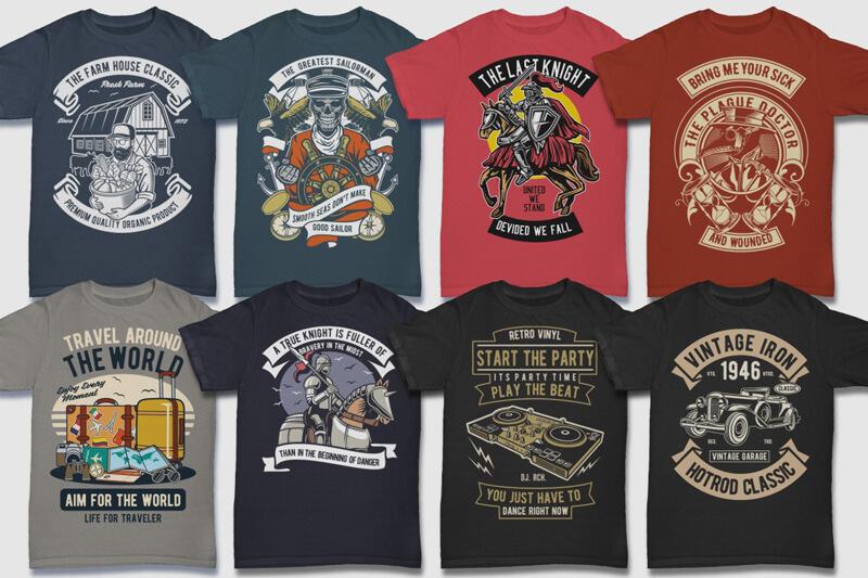 100 Retro T shirt Designs Preview 12