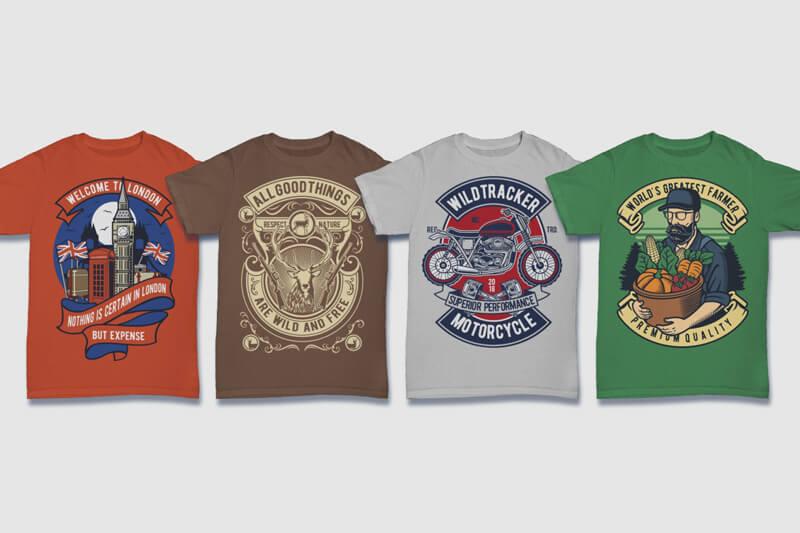 100 Retro T shirt Designs Preview 13