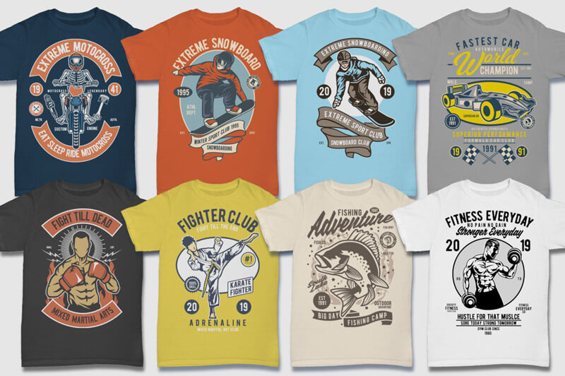 100 Retro T-shirt Designs Vol 2 Preview 05