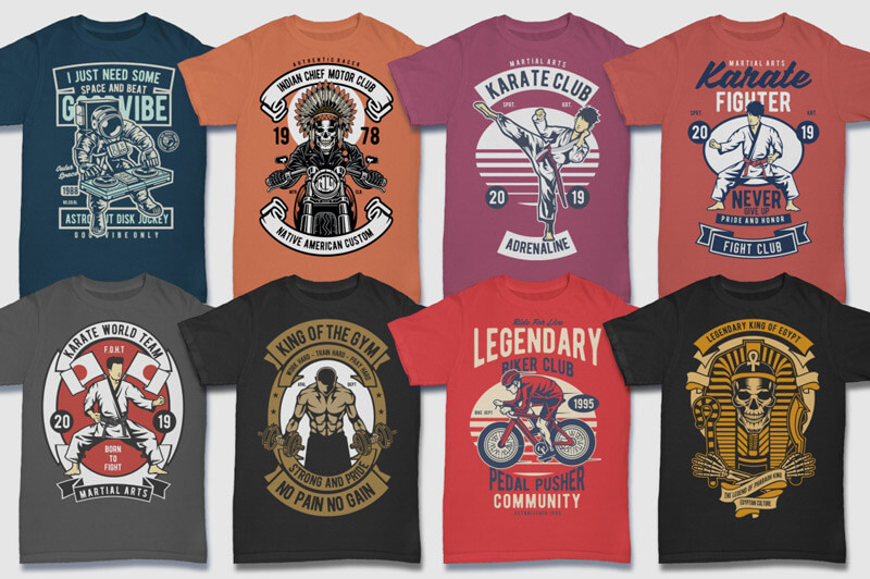 100 Retro T-shirt Designs Vol 2 Preview 07