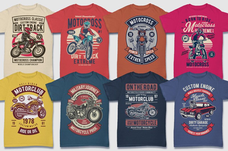 100 Retro T-shirt Designs Vol 2 Preview 08